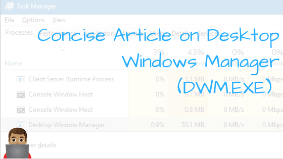 What The Hell Is DWM.exe And How To Stop It.