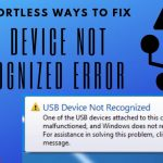 USB Device Not Recognized Error