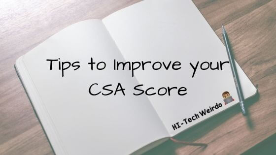 Tips to Improve your CSA Score