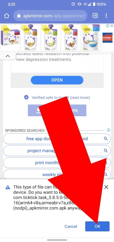 how do you open apk files on android