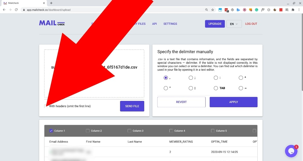 how to check email validity