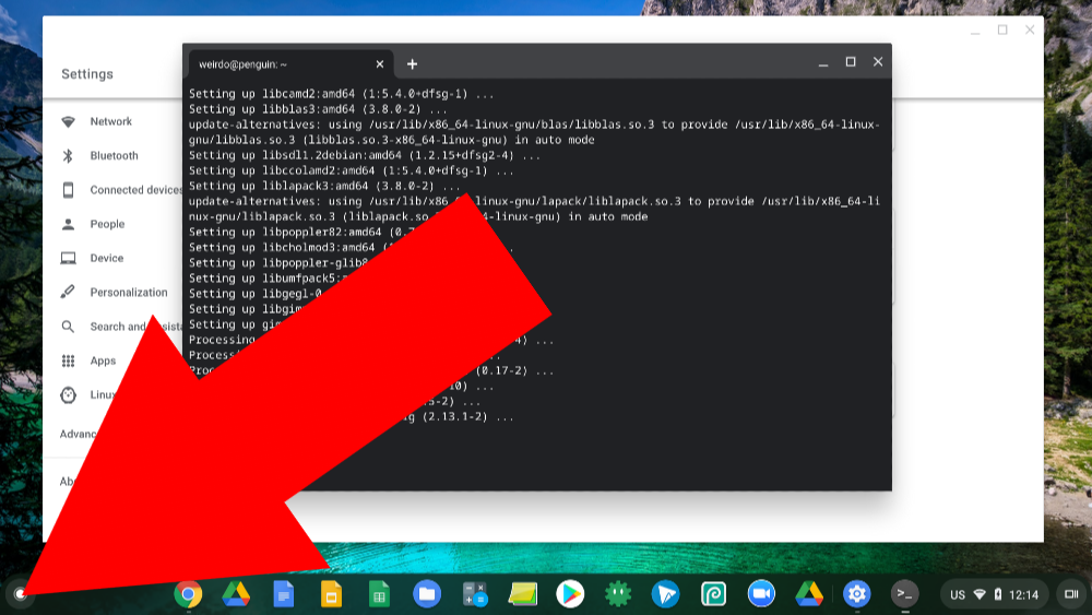 how to enable linux on chromebook
