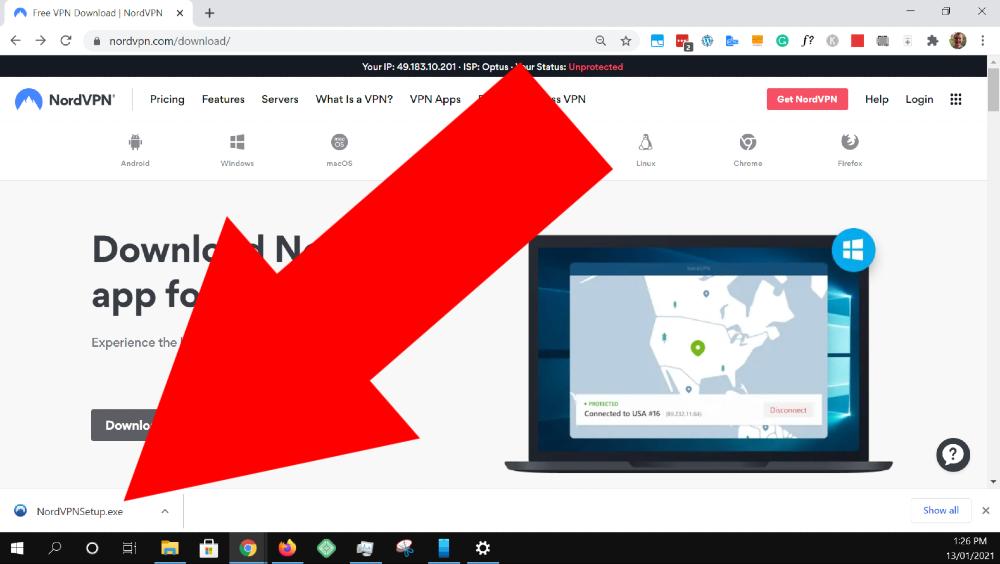 how to install nordvpn on windows