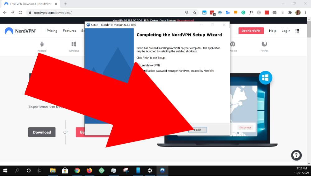 how to use nordvpn windows 10