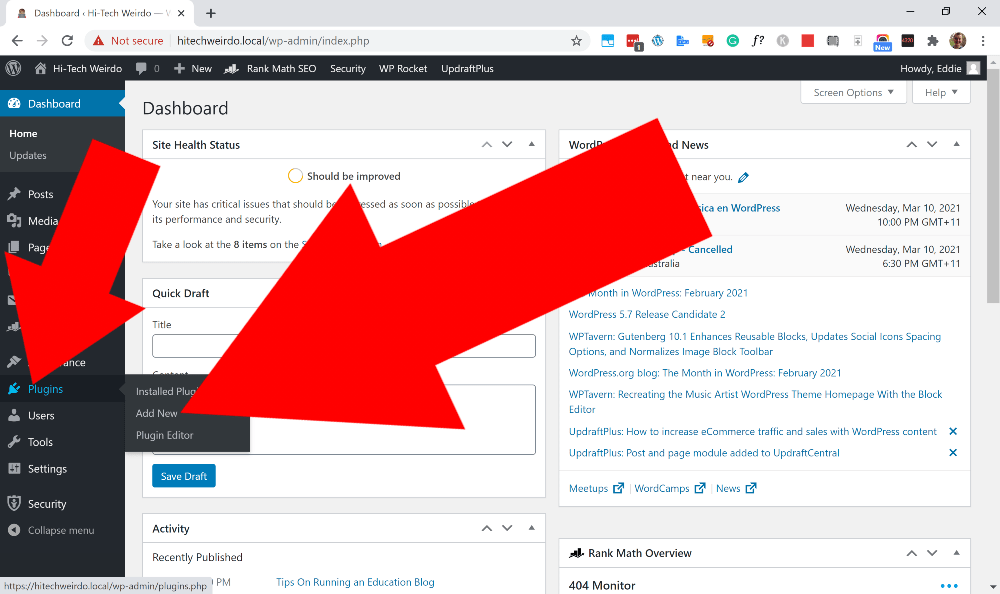 wordpress email setup
