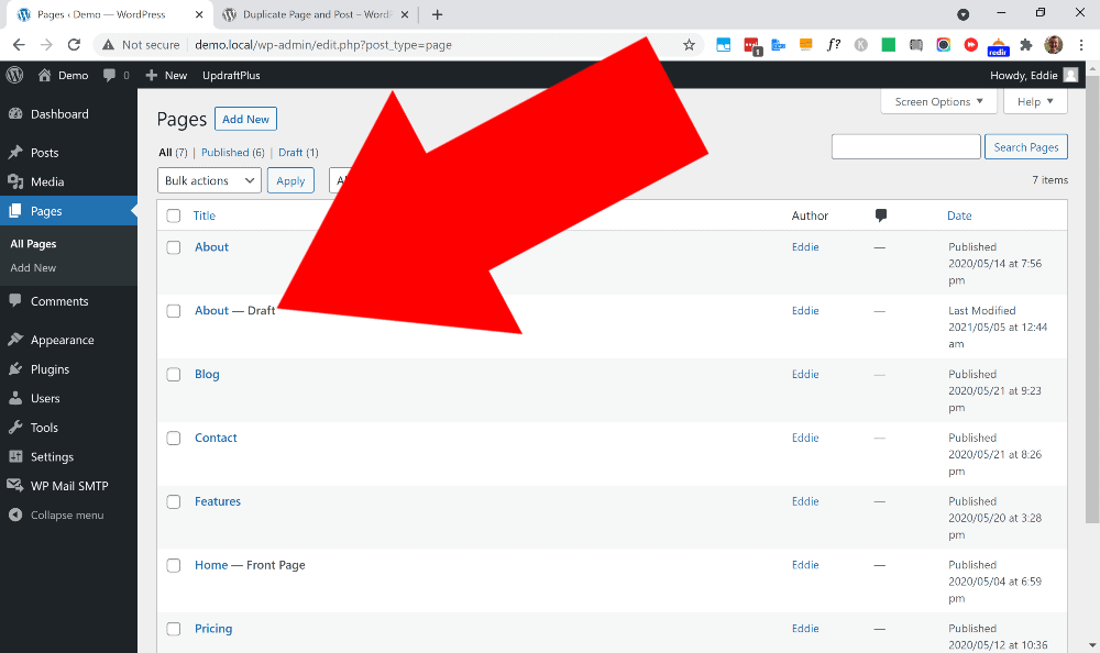how to duplicate a page in elementor