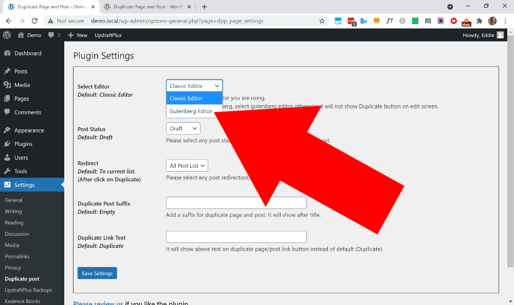 wordpress how to duplicate page