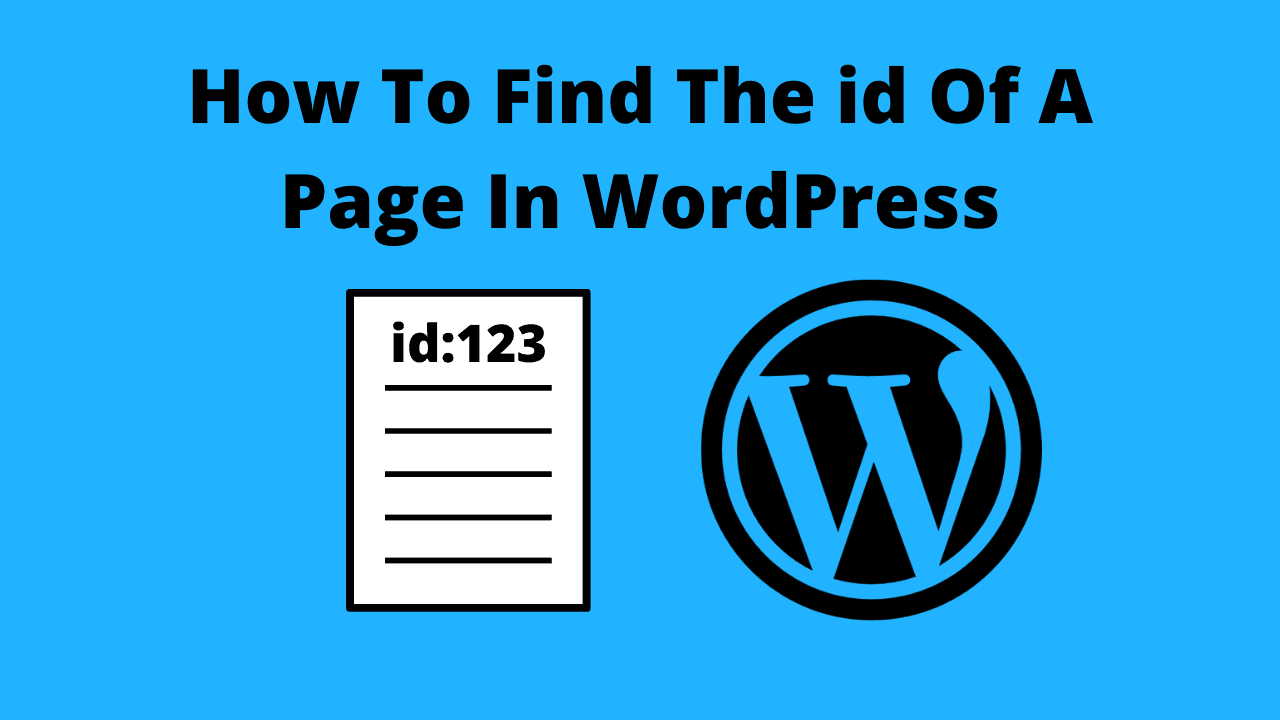 how to find the id of a page in wordpress