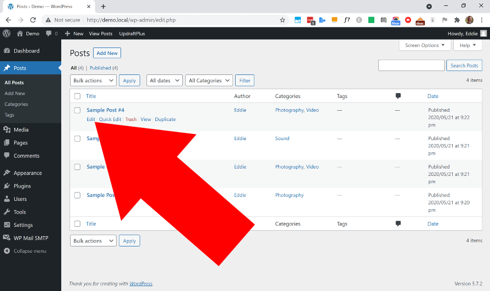 how to get wordpress page id