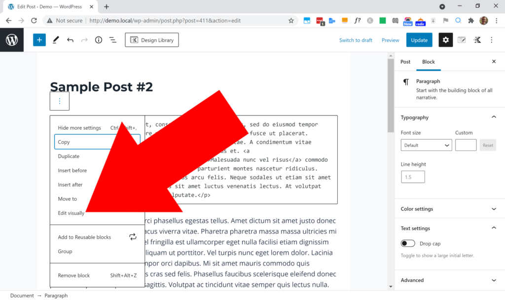 how to create no follow link