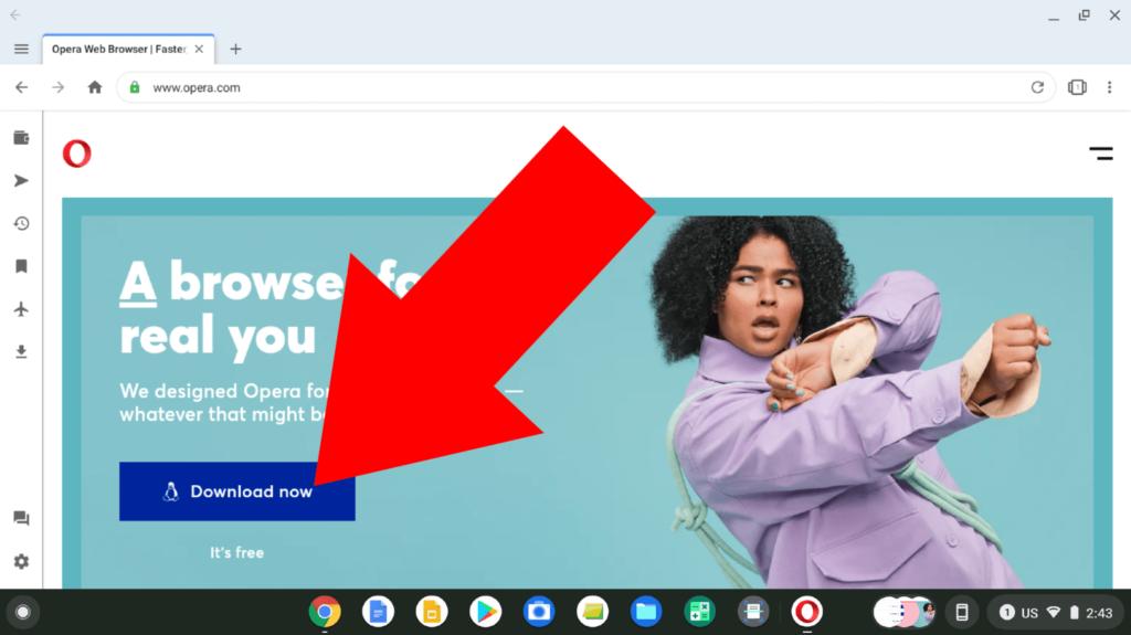 opera browser chromebook
