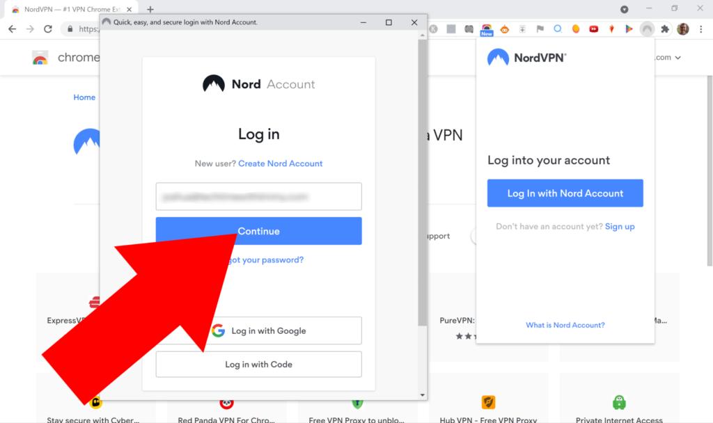 nordvpn google extension
